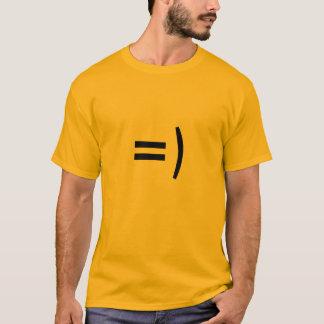 T-shirt Pièce en t de base d'or