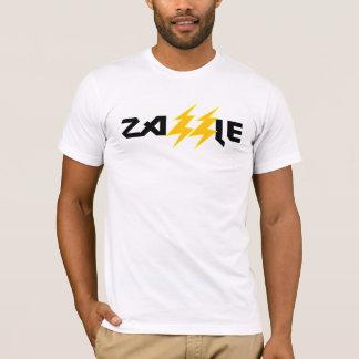 T-shirt Pièce en t de blanc de boulon de foudre de roche