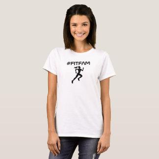 T-shirt Pièce en t de blanc de filles de Fitfam
