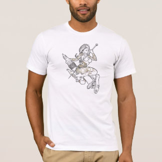 T-shirt Pièce en t de blanc de MG