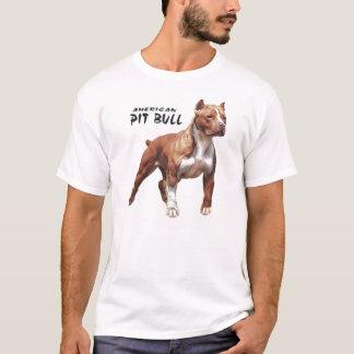 T-shirt pièce en t de blanc de pitbull