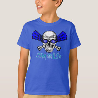 T-shirt Pièce en t de bleu de la vie de bain