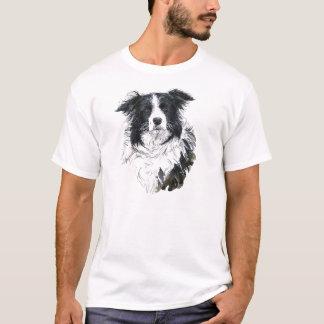 T-shirt Pièce en t de border collie