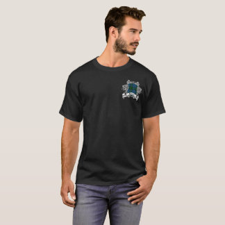 T-shirt Pièce en t de bouclier de tartan de chasse de Kerr