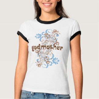 T-shirt Pièce en t de cadeau de remous fleurie par