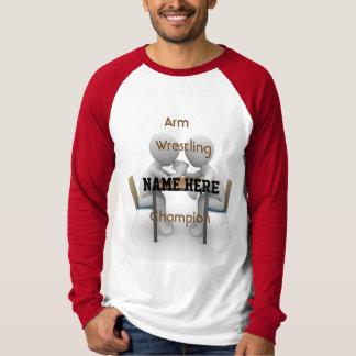 T-shirt Pièce en t de champion de bras de fer