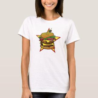 T-shirt Pièce en t de cheeseburger de dames