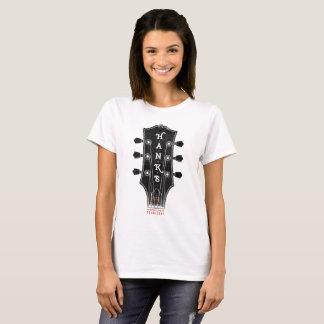 T-shirt Pièce en t de chef de la guitare de Hank (femmes)