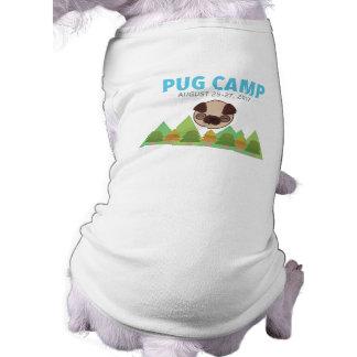 T-shirt Pièce en t de chien de camp de carlin