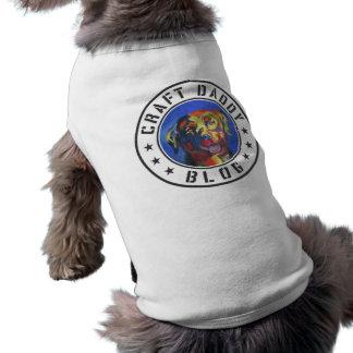 T-shirt Pièce en t de chien de logo de blog de papa de