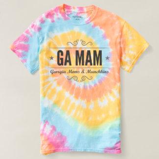 T-shirt Pièce en t de colorant de cravate de MAMAN de GA