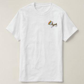 T-shirt Pièce en t de corgi de gay pride