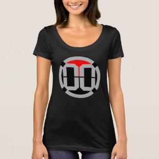 T-shirt Pièce en t de cou de scoop de logo de 00 LVL