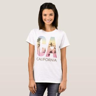 T-shirt Pièce en t de coucher du soleil de LA de fille de
