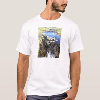 T-shirt Pièce en t de courant de sommet de montagne