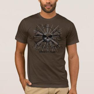 T-shirt Pièce en t de crâne de gravité