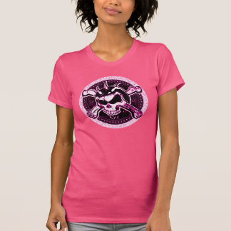 T-shirt Pièce en t de crâne de poussin de cycliste