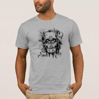 T-shirt Pièce en t de crâne d'escalade de roche