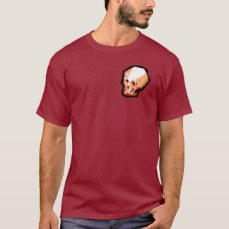 T-shirt Pièce en t de crâne (rouge foncé)