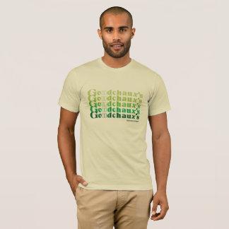 T-shirt Pièce en t de crème avec le rétro lettrage de