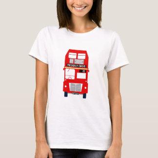 T-shirt Pièce en t de dames d'autobus de Londres