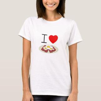 T-shirt Pièce en t de dames de Spam et d'oeufs du coeur I