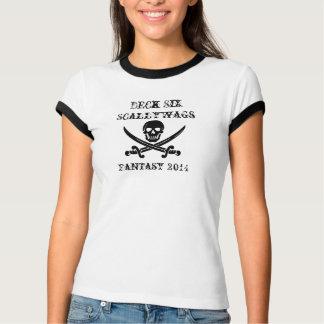 T-shirt Pièce en t de dames de voyous de la plate-forme