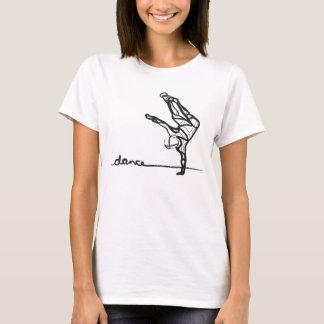 T-shirt Pièce en t de danse de hip hop (adaptée)