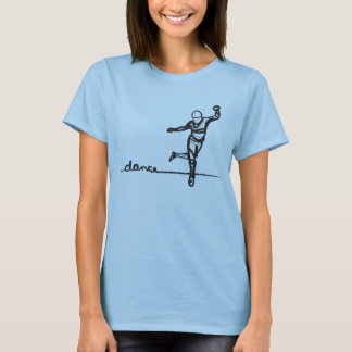 T-shirt Pièce en t de danse de robinet (adaptée)