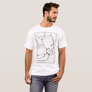 T-shirt Pièce en t de dessin de botte de DEStudios
