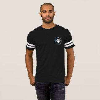 T-shirt Pièce en t de diamant de style du football