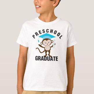 T-shirt Pièce en t de diplômé d'école maternelle de bleu