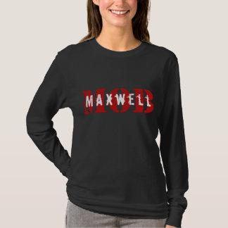 T-shirt Pièce en t de douille de noir de FOULE de Maxwell