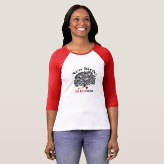 T-shirt Pièce en t de douille du raglan 3/4 de dames