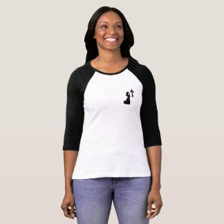 T-shirt Pièce en t de douille du raglan 3/4 des femmes de