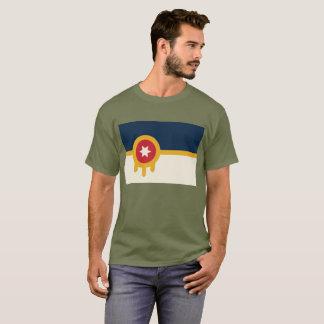 T-shirt Pièce en t de drapeau de Tulsa