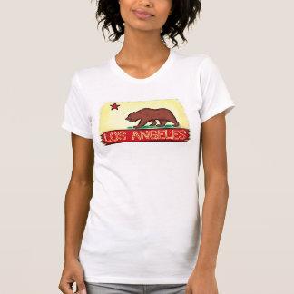 T-shirt Pièce en t de drapeau d'état de dames de Los