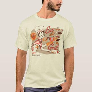 T-shirt Pièce en t de fête des pères du gril du papa rétro