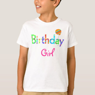 T-shirt Pièce en t de fille d'anniversaire