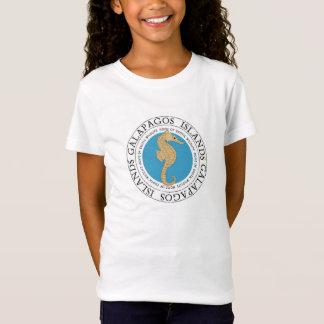 T-Shirt Pièce en t de filles d'hippocampe d'îles de