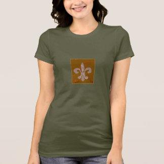 T-shirt pièce en t de fleur de lis