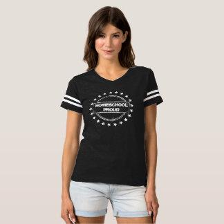 T-shirt Pièce en t de football fière de Homeschool