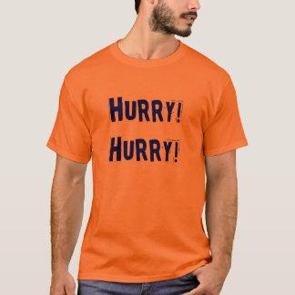 T-shirt Pièce en t de football orange bleue de hâte de