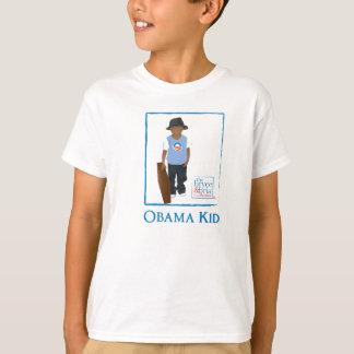 T-shirt pièce en t de garçon d'obama