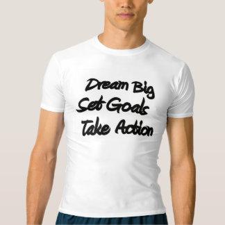 T-shirt Pièce en t de graphique de compression de la forme