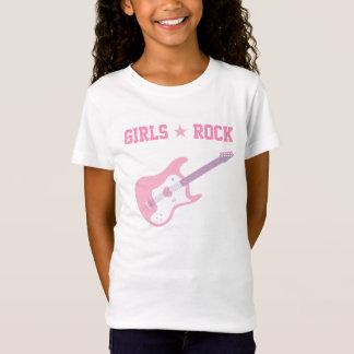T-Shirt Pièce en t de guitare de rose de vedette du rock