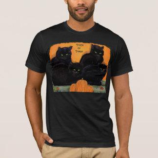 T-shirt Pièce en t de Halloween de chats noirs