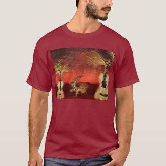 T-shirt Pièce en t de la série 2 en bois et de ficelles