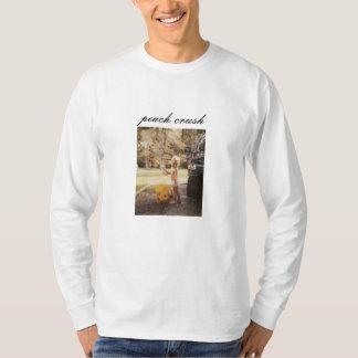 T-shirt Pièce en t de lave-auto d'écrasement de pêche