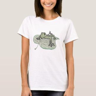 T-shirt Pièce en t de lézard